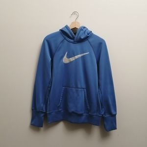 Nike therma fit pull over hoodie with fleece
